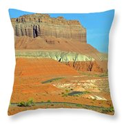 Carmel Canyon Trail In Goblin Valley State Park, Utah Throw Pillow