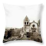 Carmel Mission By A.j. Perkins 1880 Throw Pillow by California Views Archives Mr Pat Hathaway Archives