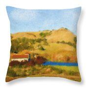 Carneros Valley Throw Pillow