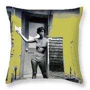 Carolyn Hastings Collage Historic Adobe Building Tucson Az 1967-2013 Throw Pillow