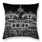 Carousel At Night Throw Pillow