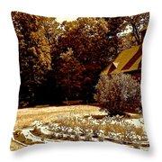Carriage House Garden Throw Pillow