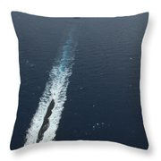 Carrier Strike Group Formation Of Ships Throw Pillow by Stocktrek Images