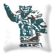 Carson Wentz Philadelphia Eagles Pixel Art 5 Throw Pillow