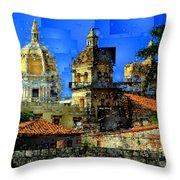 Cartagena Colombia Throw Pillow
