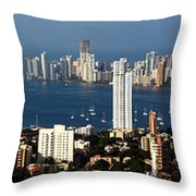 Cartegena Colombia Throw Pillow