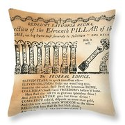Cartoon: Constitution Throw Pillow