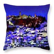 Casares By Night Throw Pillow