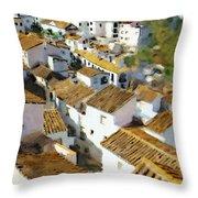 Casares Rooftops Throw Pillow
