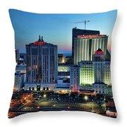 Casinos Atlantic City  Throw Pillow