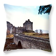 Castle Eilean Scotland Throw Pillow