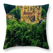Castle Hohenschwangau Throw Pillow