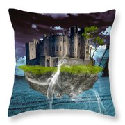 Castle In The Sky Art Throw Pillow