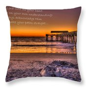 Castles In The Sand 2 Tybee Island Pier Sunrise Throw Pillow