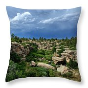 Castlewood Canyon And Rain Throw Pillow