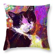 Cat Feline Pet Animal Cute  Throw Pillow
