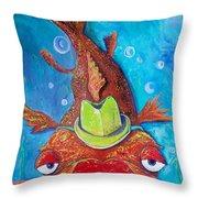 Catfish Clyde Throw Pillow