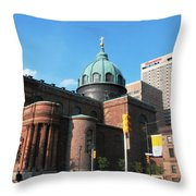 Cathedral Basilica Of Saints Peter And Paul Philadelphia Throw Pillow