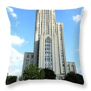 Cathedral Of Learning Throw Pillow by Thomas R Fletcher