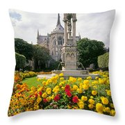 Cathedral Of Notre Dame Throw Pillow