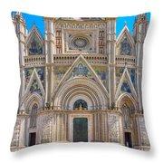 Cathedral Of Orvieto, Duomo Di Orvieto, Umbria, Italy Throw Pillow