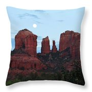 Cathedral Rock Moon 081913 A2 Throw Pillow