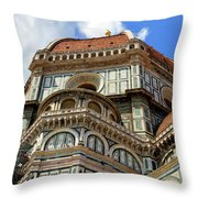 Cathedral Santa Maria Del Fiore, Duomo, In Florence, Tuscany, Italy Throw Pillow