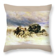 Caught In A Storm Throw Pillow