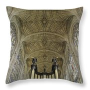 Ceiling Of Kings College Chapel Throw Pillow