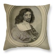 Celebrity Etchings - Clive Owen Throw Pillow