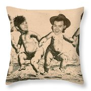 Celebrity Etchings - One Direction   Throw Pillow