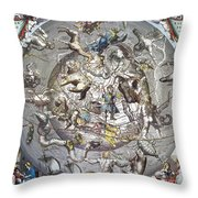 Celestial Planisphere, 1660 Throw Pillow
