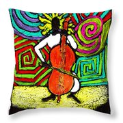 Cello Soloist Throw Pillow