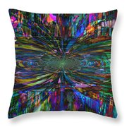 Central Swirl Throw Pillow
