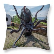 Centro De Investigaciones Paleontologicas Throw Pillow