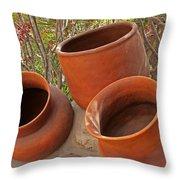 Ceramic Pots Throw Pillow