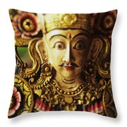 Ceremonial Mask Throw Pillow