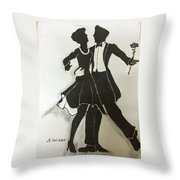 Cha Cha In The Shadows Throw Pillow by Mimi Eskenazi