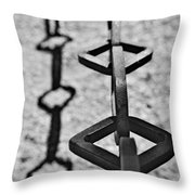 Chained Shadows Throw Pillow