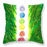 Chakra Garden Throw Pillow