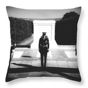 Changing Of The Guard At The Tomb Of The Unknowns At Arlington Throw Pillow