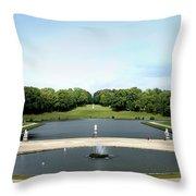 Chantilly Castle Garden In France Throw Pillow