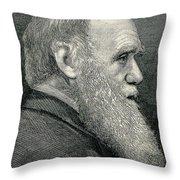 Charles Darwin, English Naturalist Throw Pillow