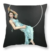 Charles Hall - Creative Arts Program - New Moon Throw Pillow
