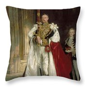 Charles Stewart Sixth Marquess Of Londonderry Throw Pillow