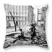 Charleston Ruins, 1865 Throw Pillow