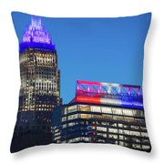 Charlotte North Carolina Skyline City View Throw Pillow