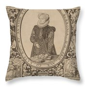 Charlotte Of Bourbon Throw Pillow