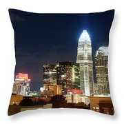 Charlotte Skylilne At Night Throw Pillow