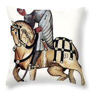 Chaucer: Canterbury Tales Throw Pillow